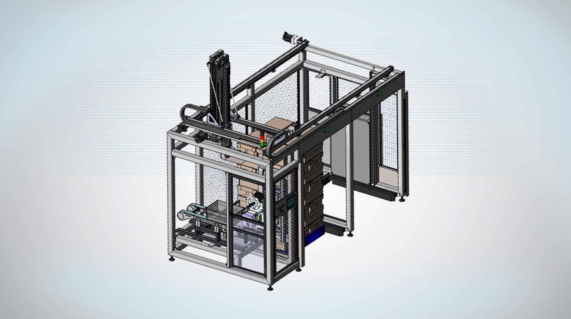 Tube Box Palletiser cell - Tube Tray Handling
