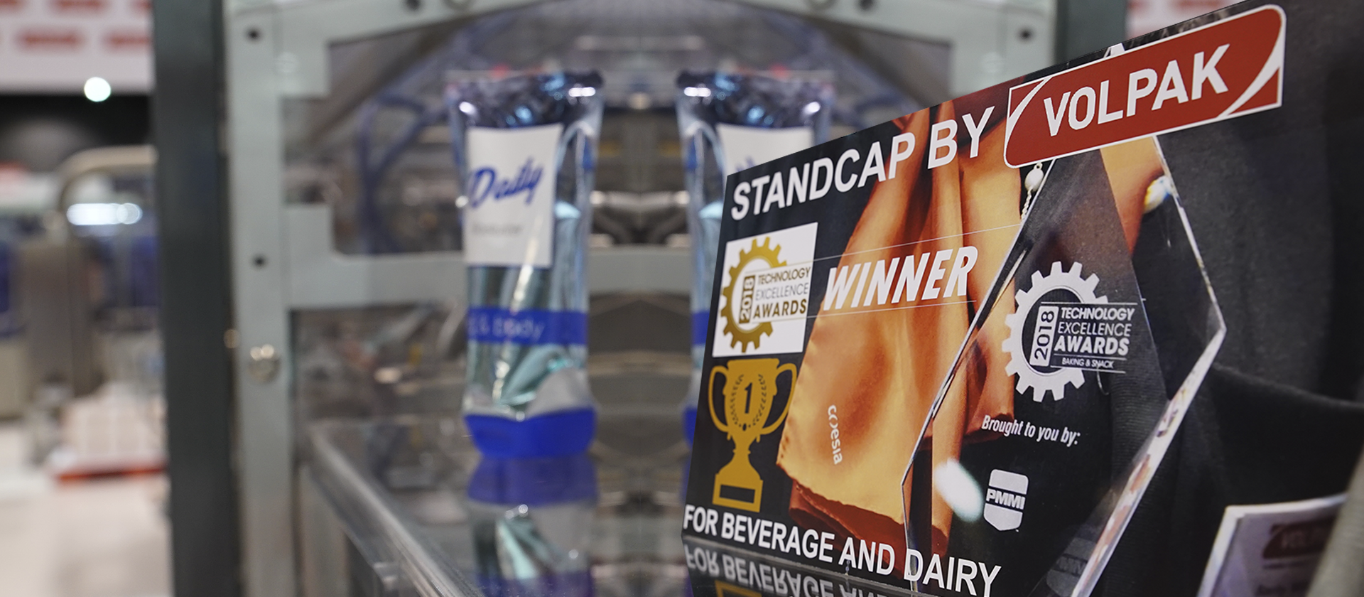 STANDCAP by Volpak winning Technology Excellence Award at Pack Expo 2018
