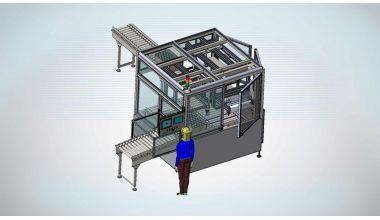 Tube Vision & Dust Sheet Applicator cell - Tube Tray Handling